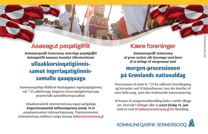 Morgen-processionen på Grønlands nationaldag